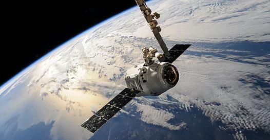 Foto van een satelliet